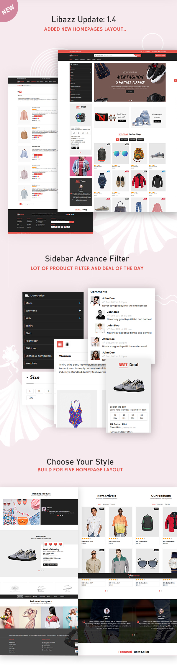 Libazz - The Responsive Bootstrap 4 Multipurpose eCommerce Template - 3