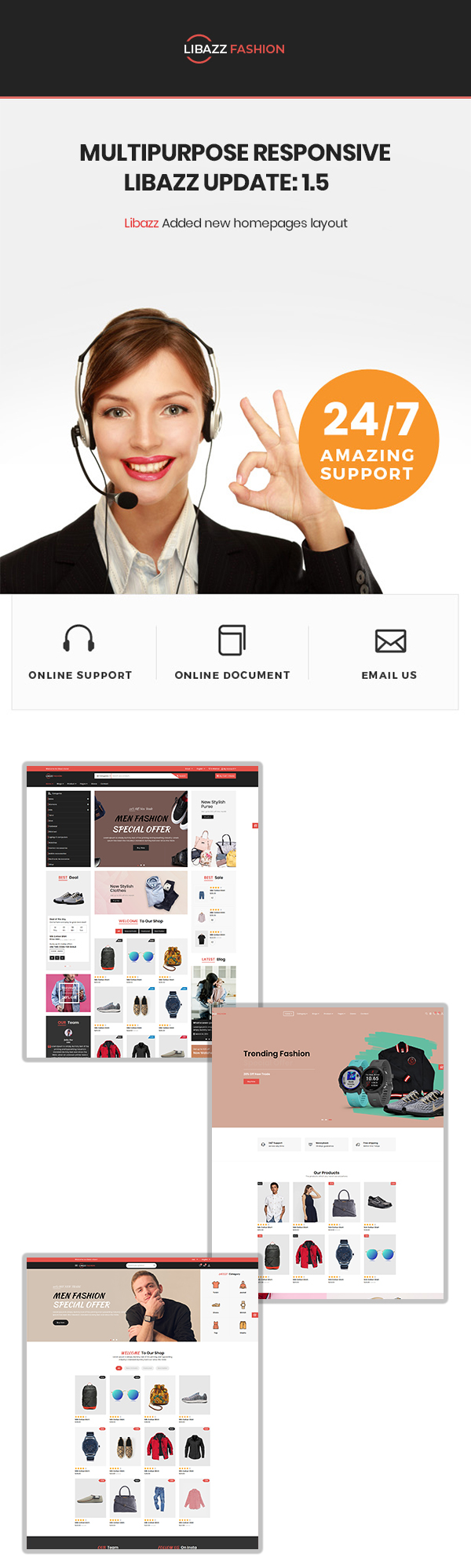 Libazz - The Responsive Bootstrap 4 Multipurpose eCommerce Template - 2