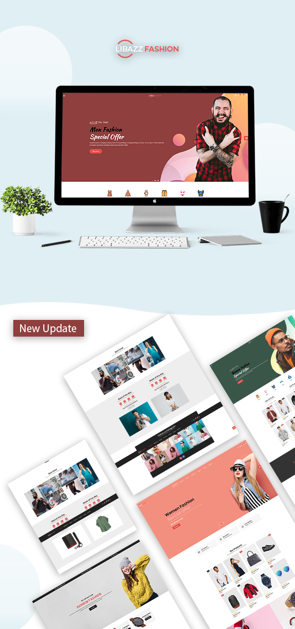 Libazz - The Responsive Bootstrap 4 Multipurpose eCommerce Template - 5