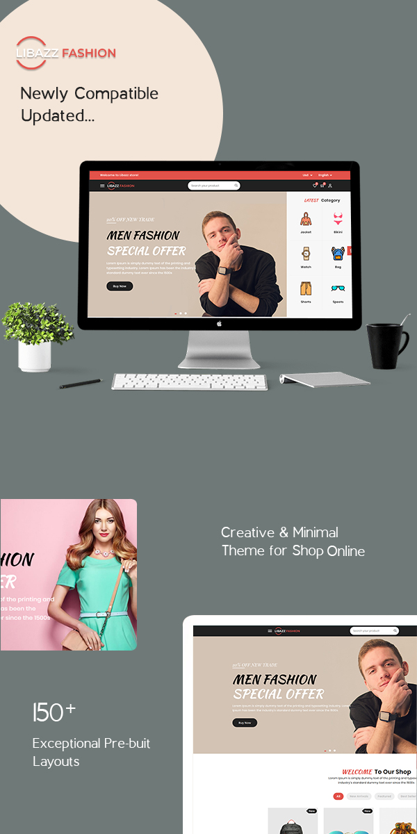 Libazz - The Responsive Bootstrap 4 Multipurpose eCommerce Template - 4