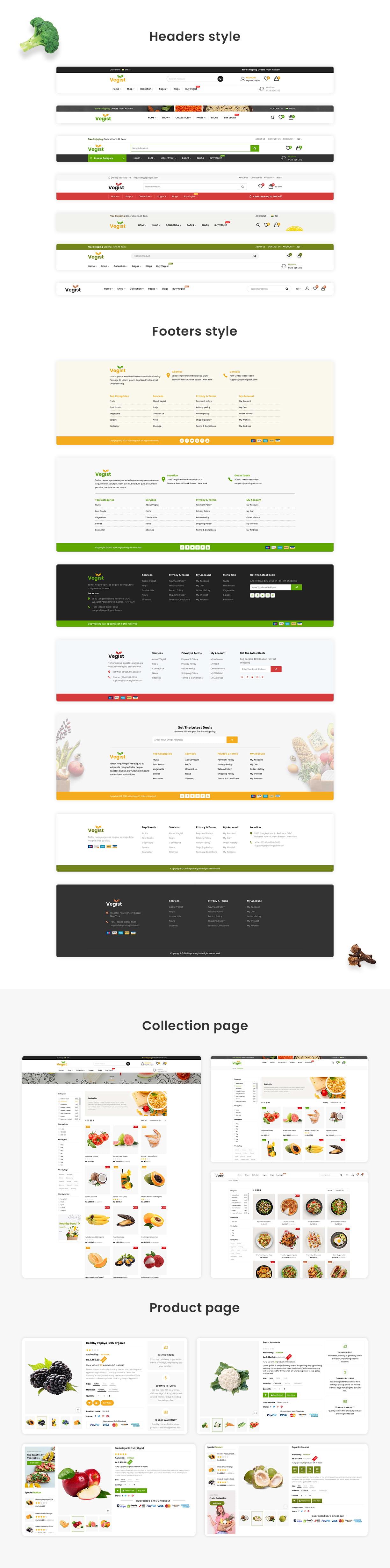 Vegist - Multipurpose eCommerce HTML Template - 2