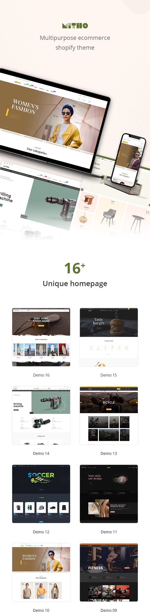 Mitho - Multipurpose beauty, medical, foods shopify theme - 2