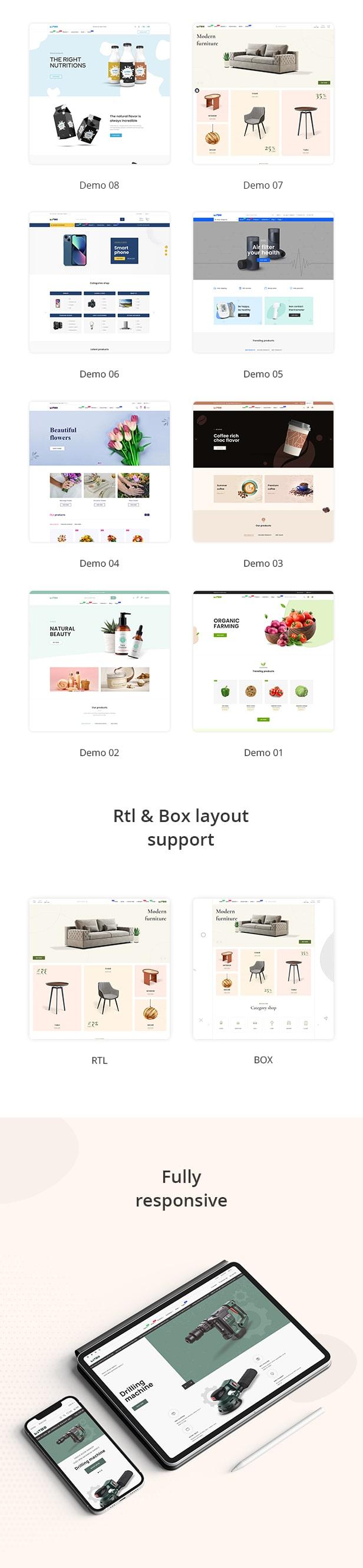 Mitho - Multipurpose beauty, medical, foods shopify theme - 3